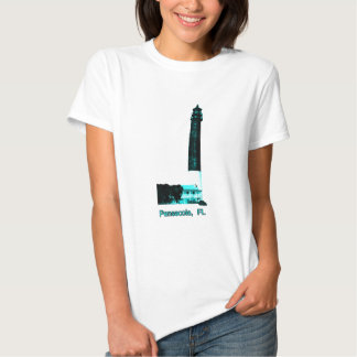 Cyan Pensacola FL fyr den MUSEUMZazzle Gifen T Shirts