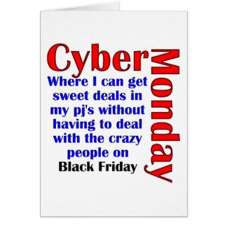 Cyber Måndag Hälsningskort