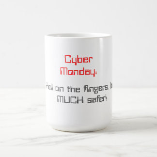 Cyber Måndag Vit Mugg