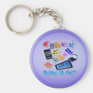 Cyberen Måndag-Kommer med på det! (2) Keychains Rund Nyckelring
