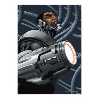 Cyborg- & vapenbyst 12,7 x 17,8 cm inbjudningskort