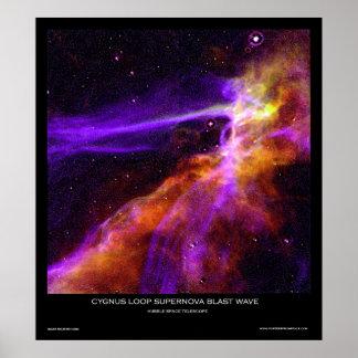 Cygnusen kretsar Supernovatryckvåg vinkar Poster