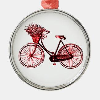 Cykel 2 julgransprydnad metall