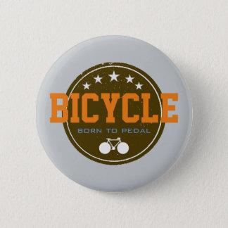 cykel. cykel/cykla som är trevligt standard knapp rund 5.7 cm