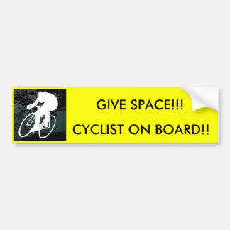 cykel CYKLIST OMBORD!! , GEUTRYMME!!! Bildekal