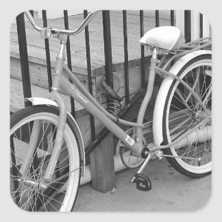 Cykel Fyrkantigt Klistermärke