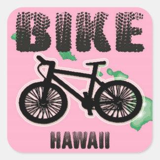 cykel hawaii fyrkantigt klistermärke