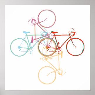 Cykel-konst/cykla-dekor Poster