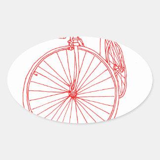 Cykel Ovalt Klistermärke