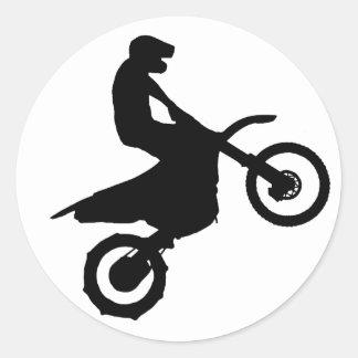 Cykel Silhouette.png Runt Klistermärke