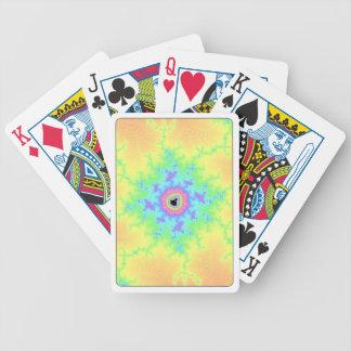 Cykel som leker kort med den Mandelbrot fractalen Spelkort