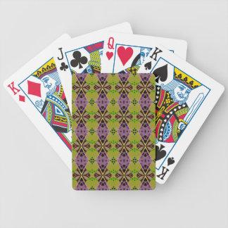 Cykel som leker kort med det olivgröna mönster spelkort