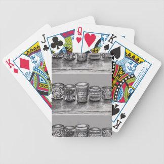 Cykel som leker kort med kaffekoppkonst spelkort