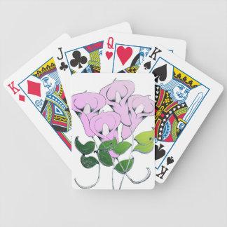 Cykel som leker kort med liljakonst spelkort