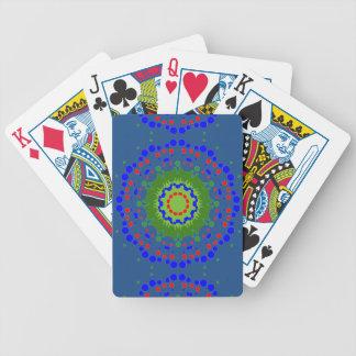 Cykel som leker kort med Mandaladesign Spelkort