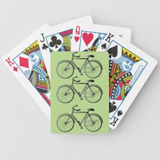 Cykel som leker kort spelkort