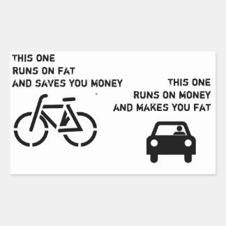Cykel vs bilklistermärke rektangulärt klistermärke