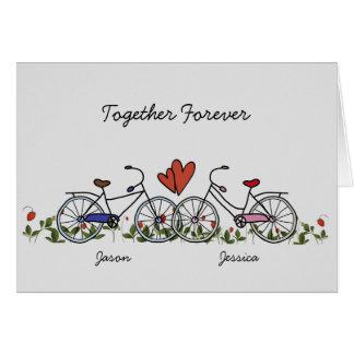 Cykelälskare kopplar ihop valentinkortet hälsningskort