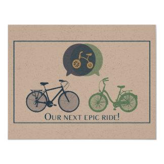 Cykelbaby showerinbjudan 10,8 x 14 cm inbjudningskort