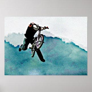 Cykeljippo för fristil BMX Poster