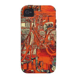 cykeln drömm collageiphone case iPhone 4 fodral