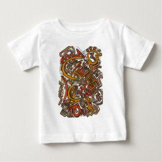 Cykelridningen i Trafikera-Abstrakt konst räcker Tee Shirts