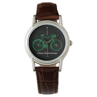 Cykelsportpersonlig med namn armbandsur