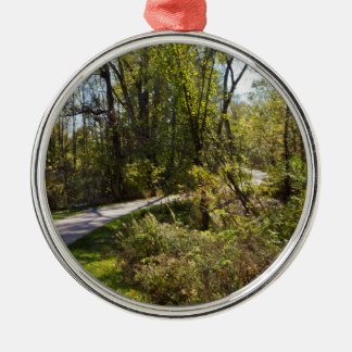Cykelvägen i det Iowa fotoet cirklar på prydnaden Julgransprydnad Metall