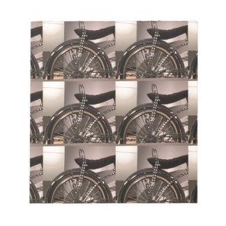 Cykla cykelkonst som den grafiska decomallen anteckningsblock