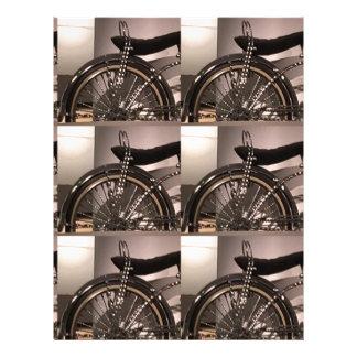 Cykla cykelkonst som den grafiska decomallen brevhuvud