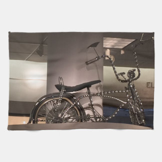 Cykla cykelkonst som den grafiska decomallen kökshandduk