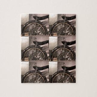 Cykla cykelkonst som den grafiska decomallen pussel