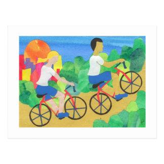 Cykla i Central Park Vykort