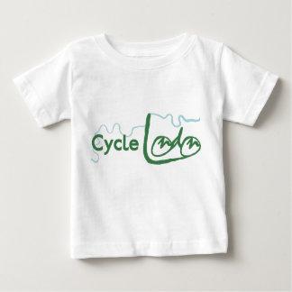 Cykla London den gröna logotypT-tröja T-shirts