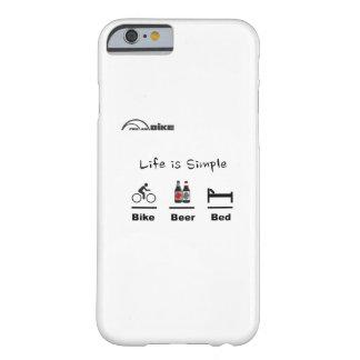 Cyklar fodral - liv enkelt - cykel - öl - säng barely there iPhone 6 skal