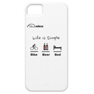 Cyklar fodral - liv enkelt - cykel - öl - säng iPhone 5 Case-Mate skal