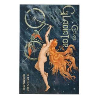 Cyklar gladiatoren vid Georges Massias vintage Trätavla
