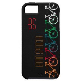 cyklar i olik färgpersonlig tough iPhone 5 fodral