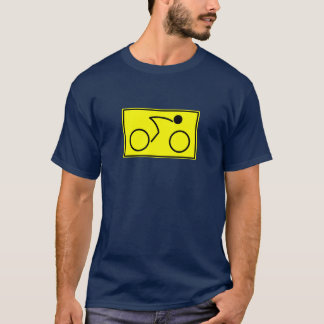 Cyklist (gult) t shirts