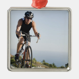 Cyklistvägridning i Malibu Julgransprydnad Metall