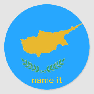 Cypern cypriot flaggaklistermärke runt klistermärke
