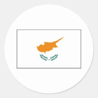 Cypern - cypriotisk flagga rund klistermärke
