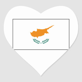 Cypern - cypriotisk flagga hjärtformade klistermärken