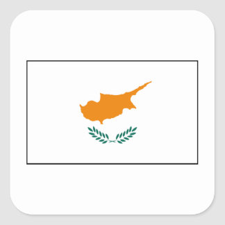 Cypern - cypriotisk flagga fyrkantiga klistermärken