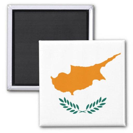 Cypern flagga CY Kylskåpsnagnet
