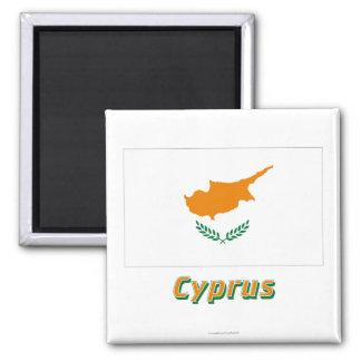Cypern flagga med namn magnet