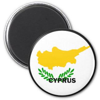 Cypern Roundel kvalitets- flagga Magnet