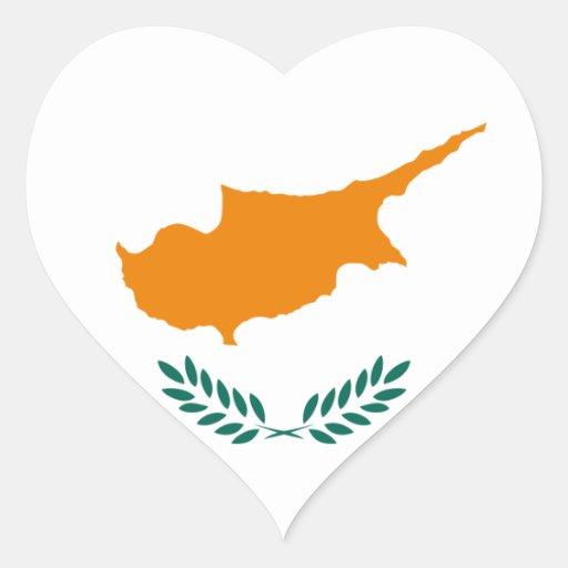 cyprus hjärtklistermärken