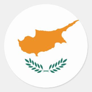 cyprus runt klistermärke