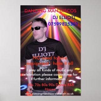 d4 som DANSAR MANDISKON, DJ ELLIOTT, 07599825301… Poster
